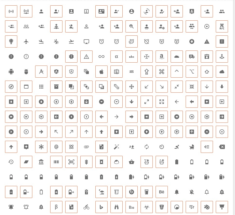 bootstrap glyphicons collection