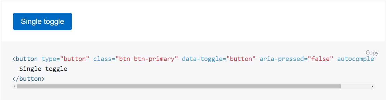 Toggle states  offered  from Bootstrap buttons