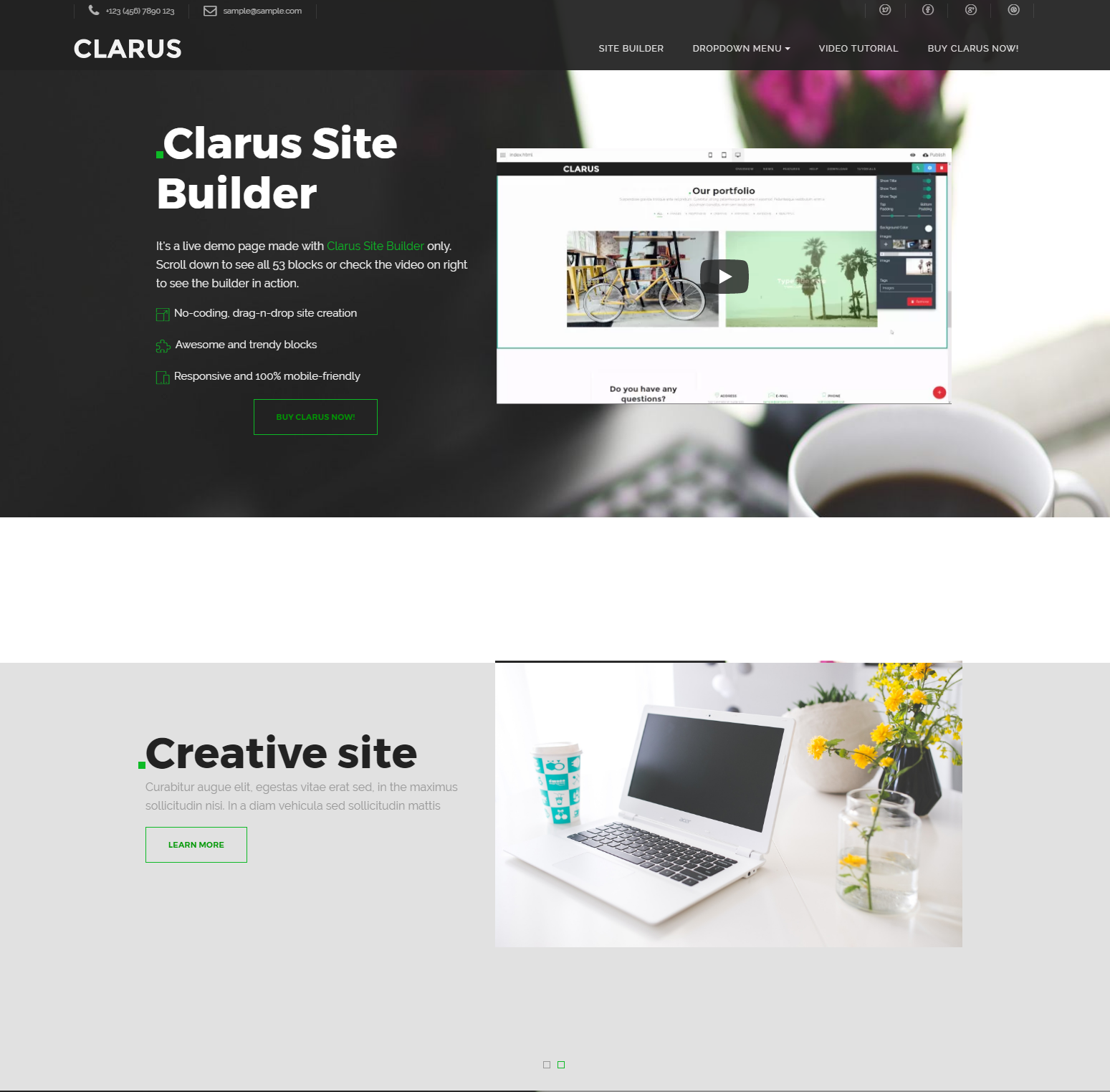 Free Bootstrap Clarus Templates