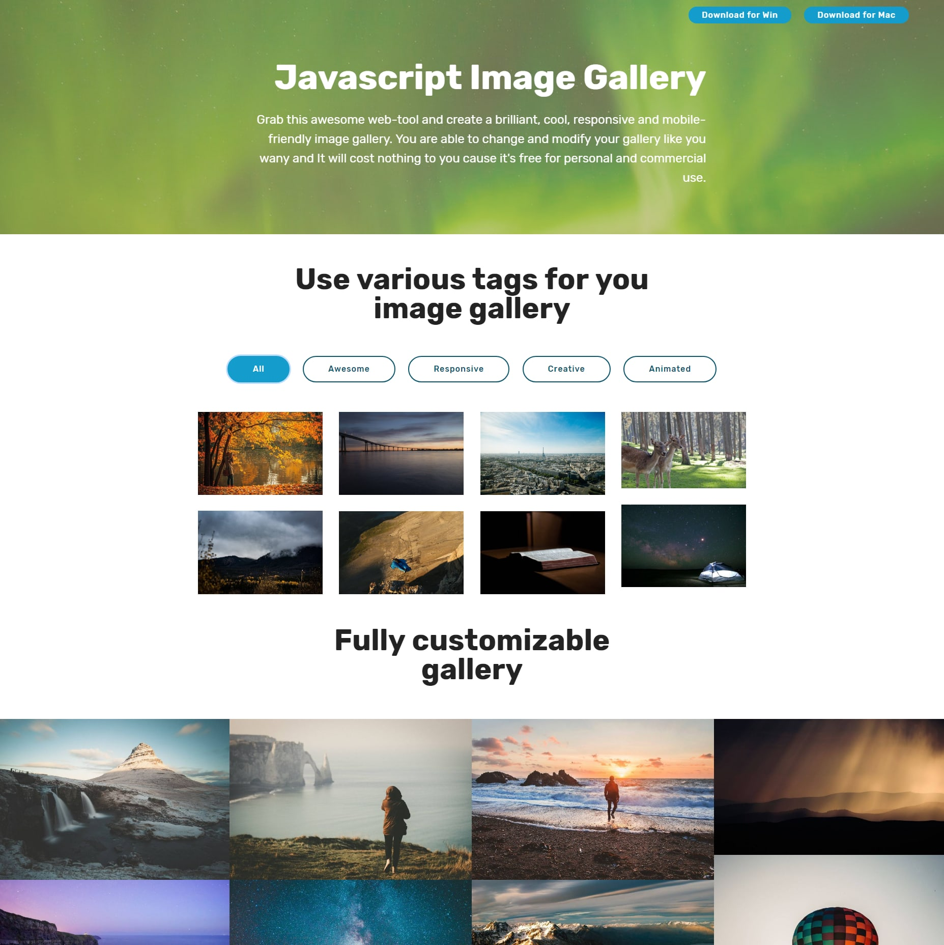 HTML5 Bootstrap Illustration Gallery